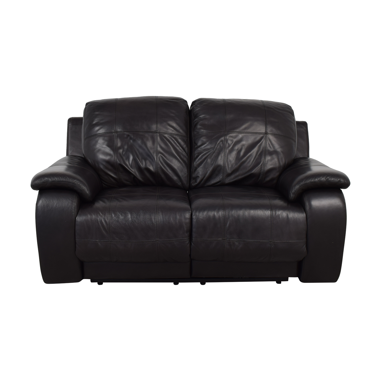 Raymour & Flanigan Raymour & Flanigan Black Power Recliner Loveseat dimensions