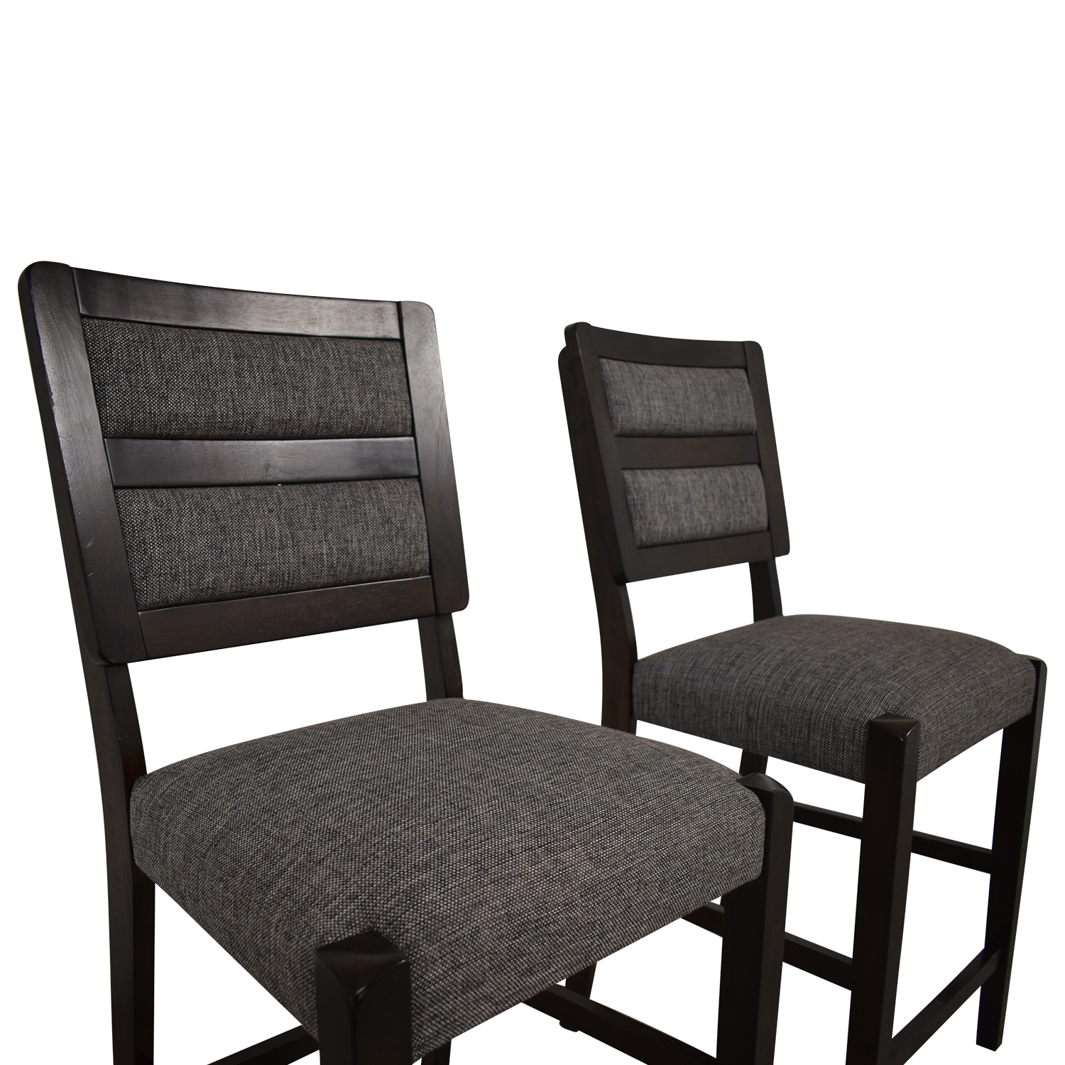 Raymour & Flanigan Raymour & Flanigan Grey Upholstered Counter Height Stools discount