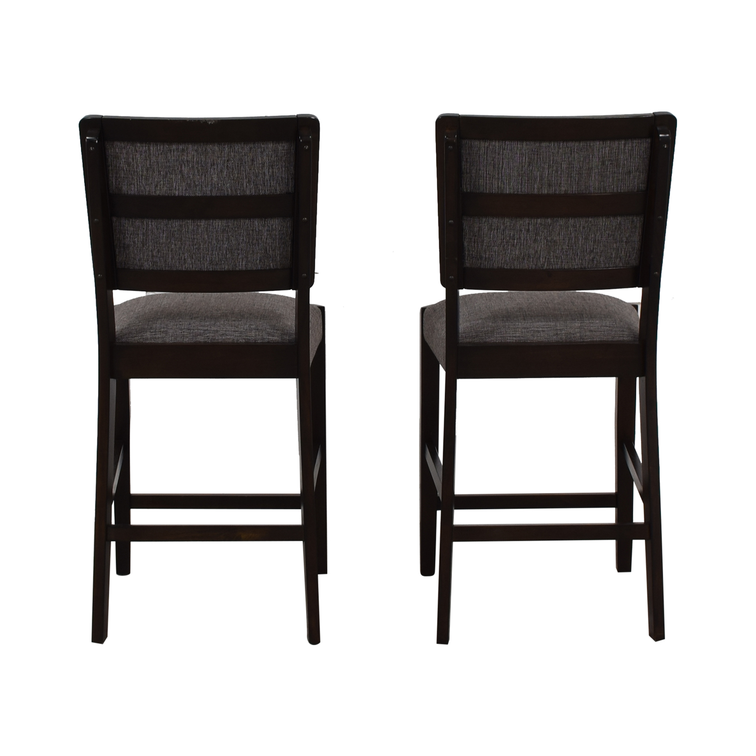 Raymour & Flanigan Raymour & Flanigan Grey Upholstered Counter Height Stools Stools