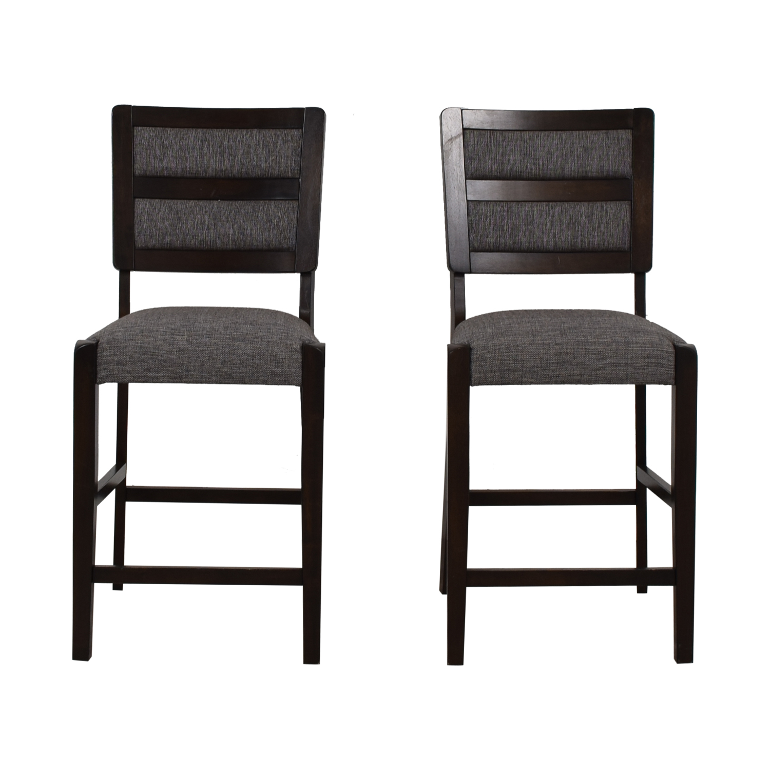 Strange 79 Off Raymour Flanigan Raymour Flanigan Grey Upholstered Counter Height Stools Chairs Gmtry Best Dining Table And Chair Ideas Images Gmtryco
