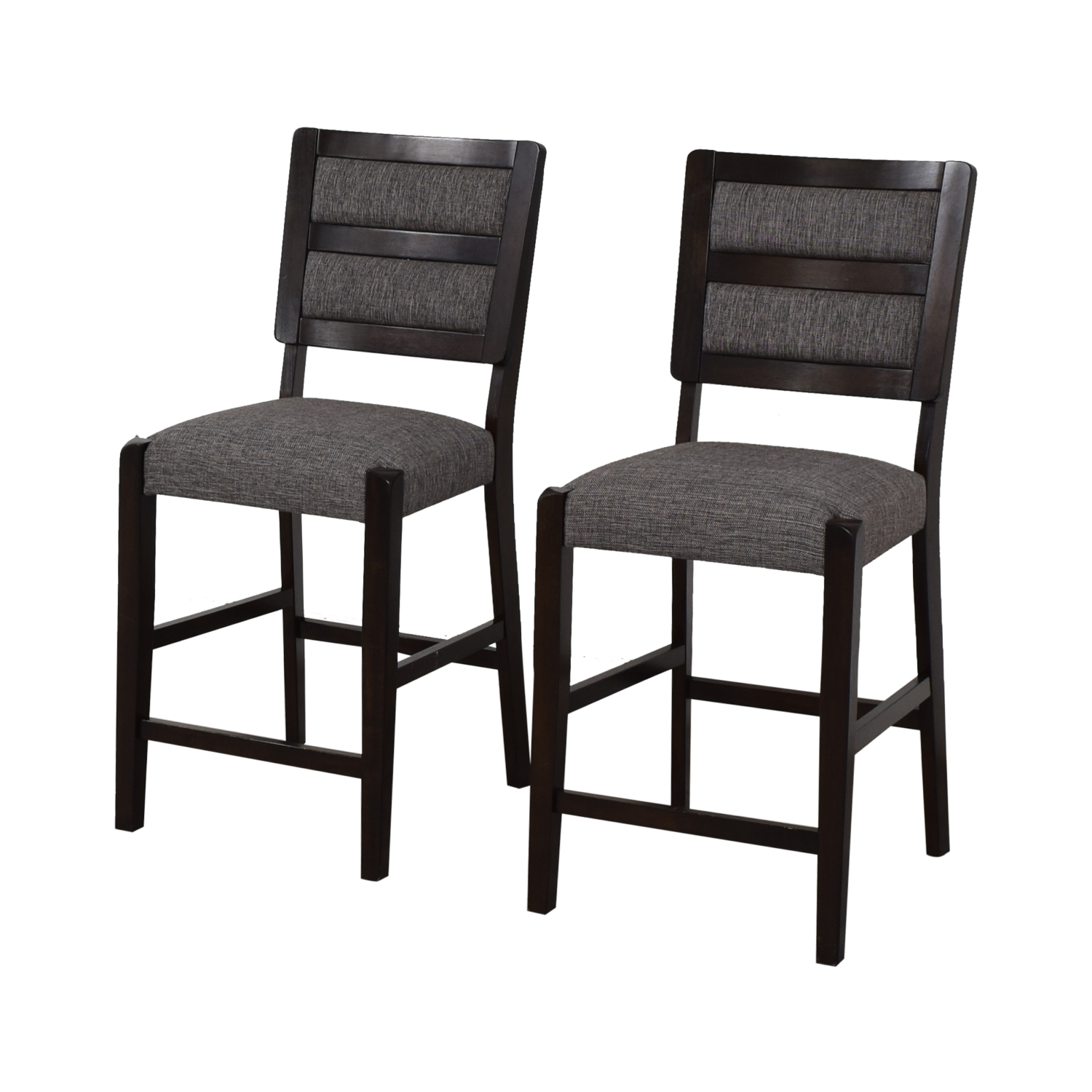 Raymour & Flanigan Raymour & Flanigan Grey Upholstered Counter Height Stools dimensions