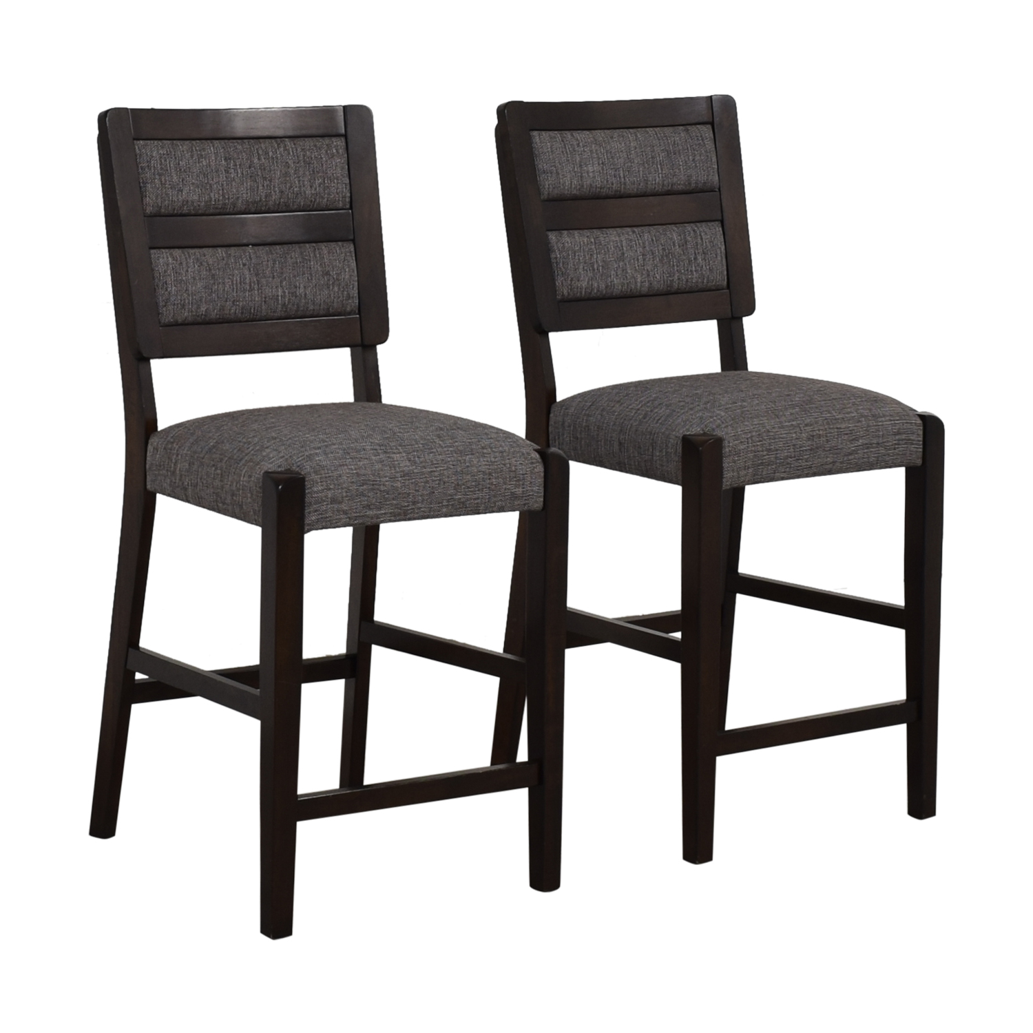Raymour & Flanigan Grey Upholstered Counter Height Stools / Stools