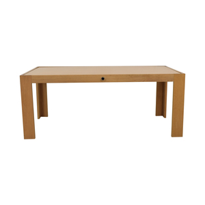 buy Blu Dot Flip Top White to Wood Dining Table Blu Dot