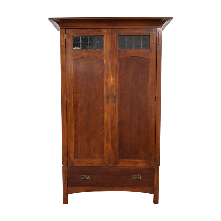 Romweber Wood Single-Drawer Entertainment Armoire sale