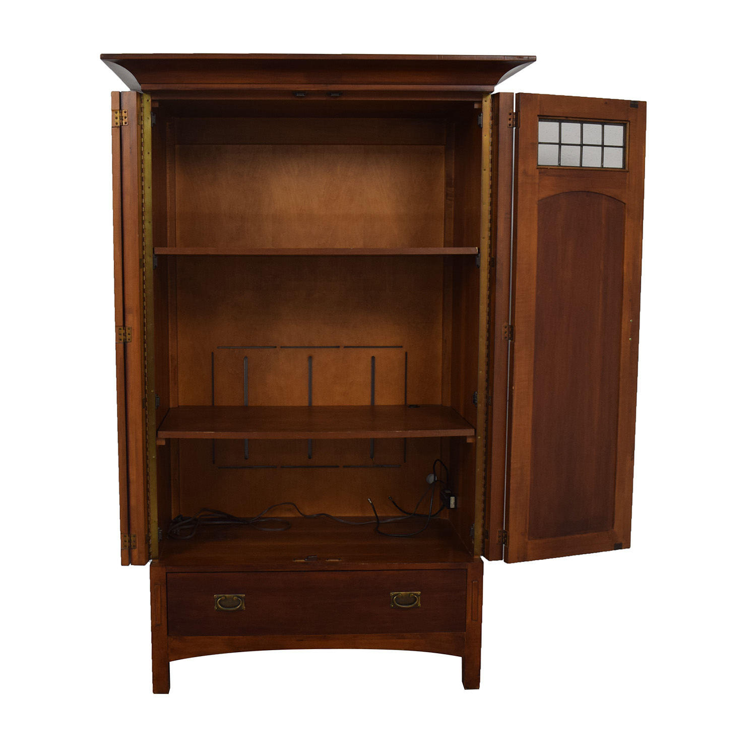 Romweber Romweber Wood Single-Drawer Entertainment Armoire