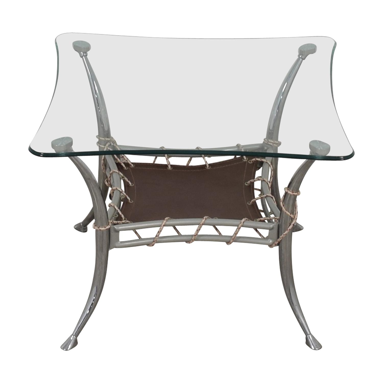 AE Furniture AE Furniture Glass and Chrome End Table nj
