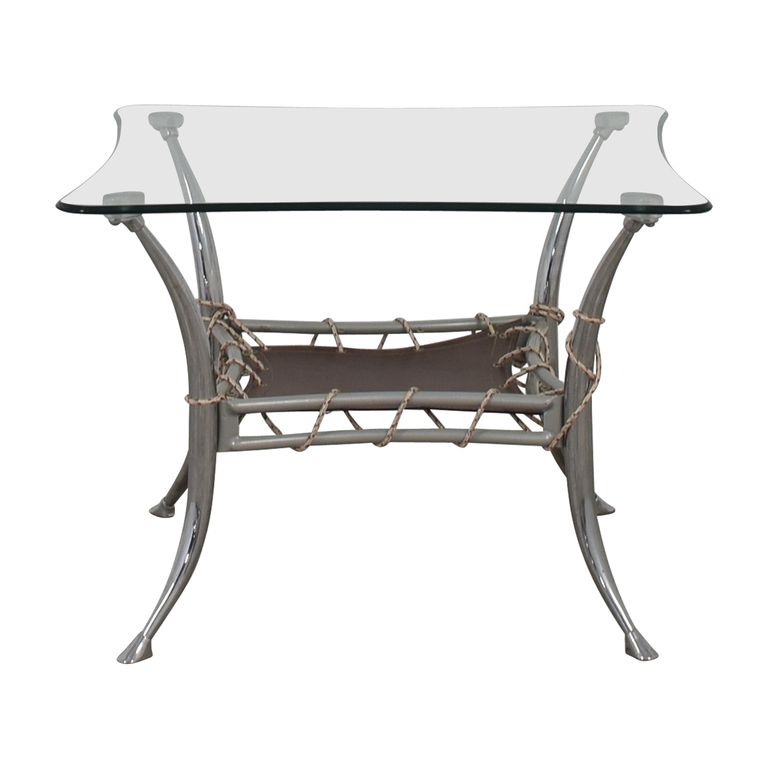 shop AE Furniture AE Furniture Glass and Chrome End Table online