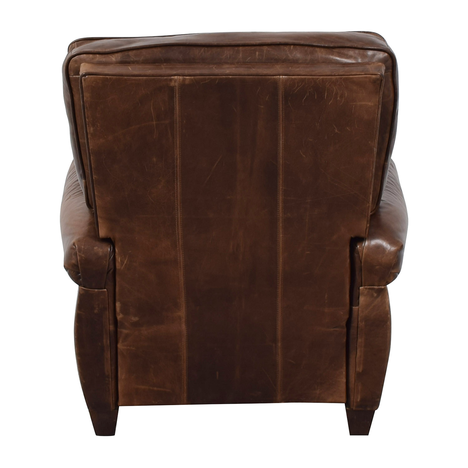 shop Pottery Barn Brown Leather Recliner Pottery Barn