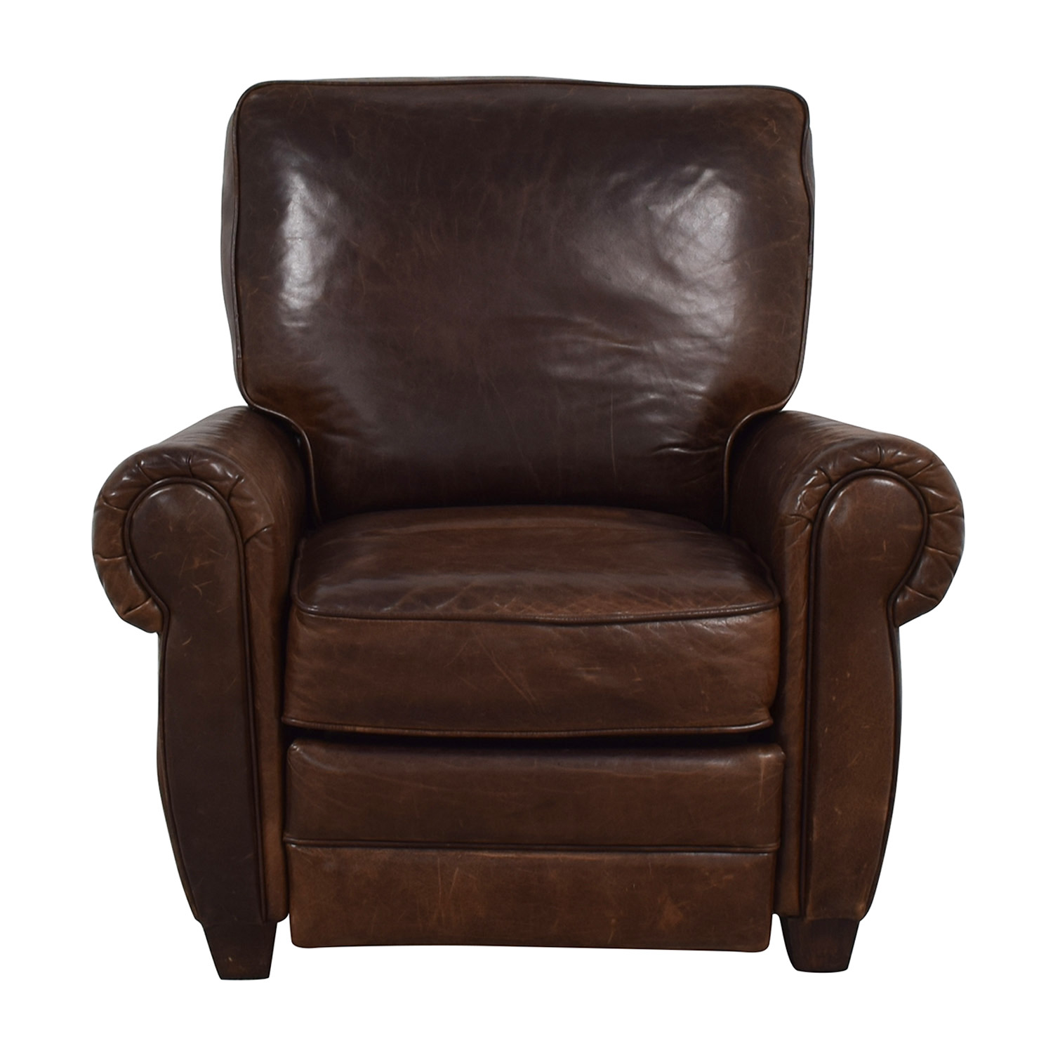 Pottery Barn Pottery Barn Brown Leather Recliner price