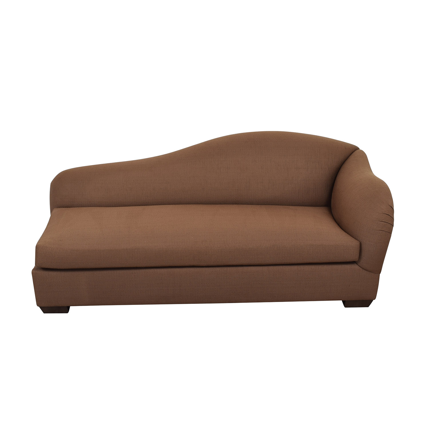 Furniture Masters Furniture Masters Brown Chaise Lounge discount