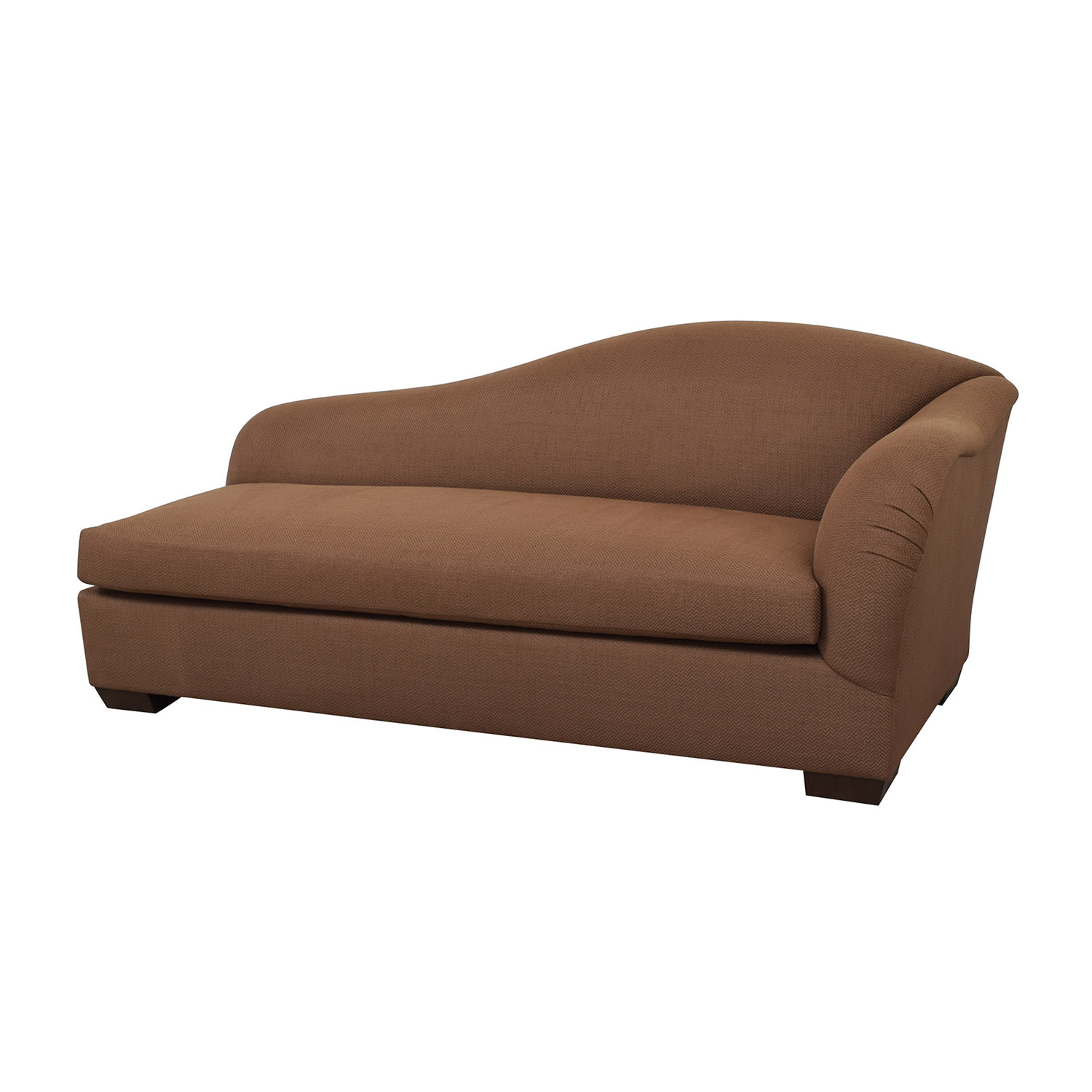 Furniture Masters Furniture Masters Brown Chaise Lounge