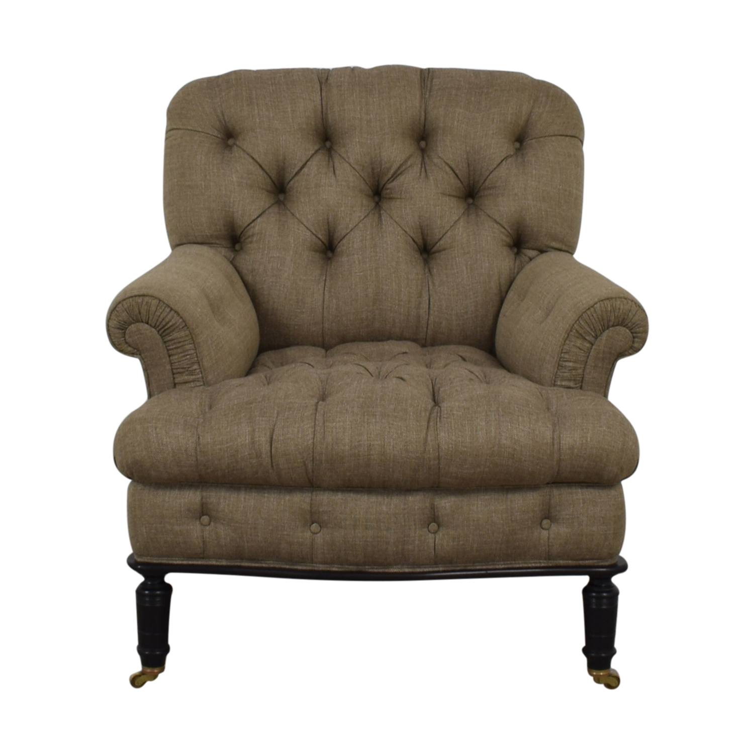 Furniture Masters Furniture Masters Grey Tufted Accent Chair nj