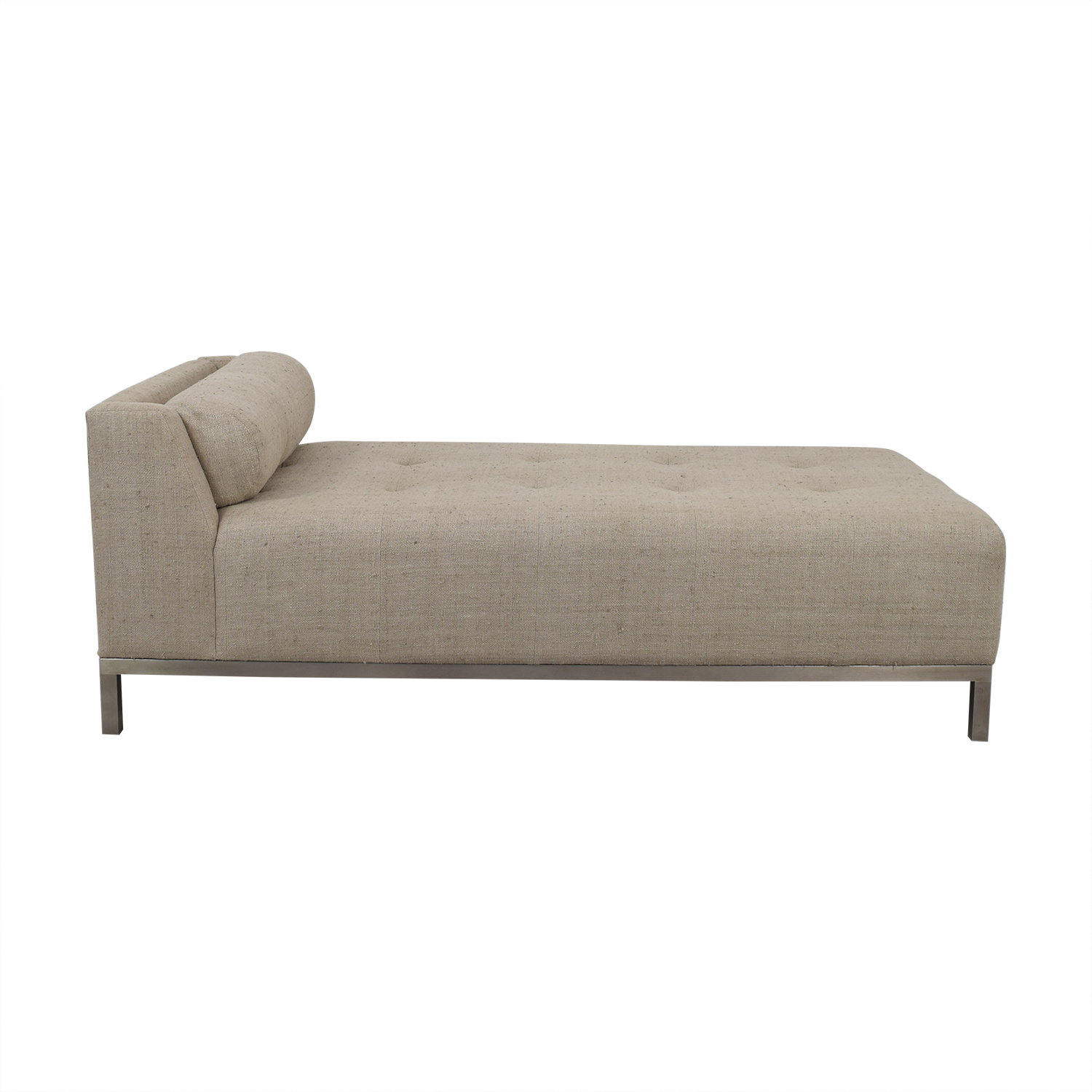 shop Furniture Masters Gray Tufted Chaise Furniture Masters