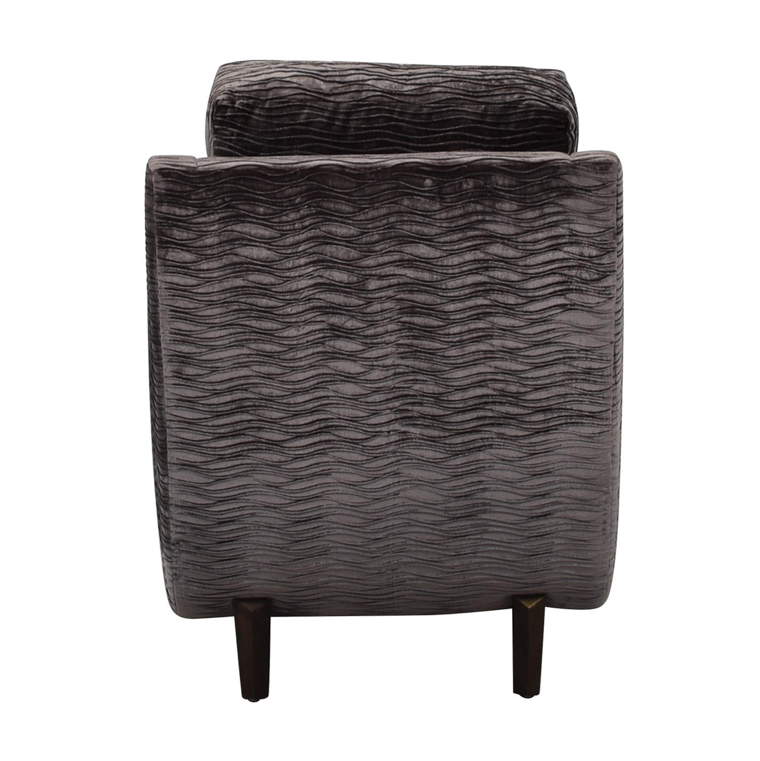 Furniture Masters Furniture Masters Grey Wave Upholstered Accent Chair Chairs
