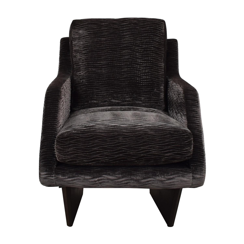 shop Furniture Masters Grey Wave Upholstered Accent Chair Furniture Masters Accent Chairs