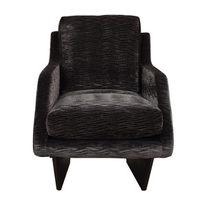 Furniture Masters Grey Wave Upholstered Accent Chair sale