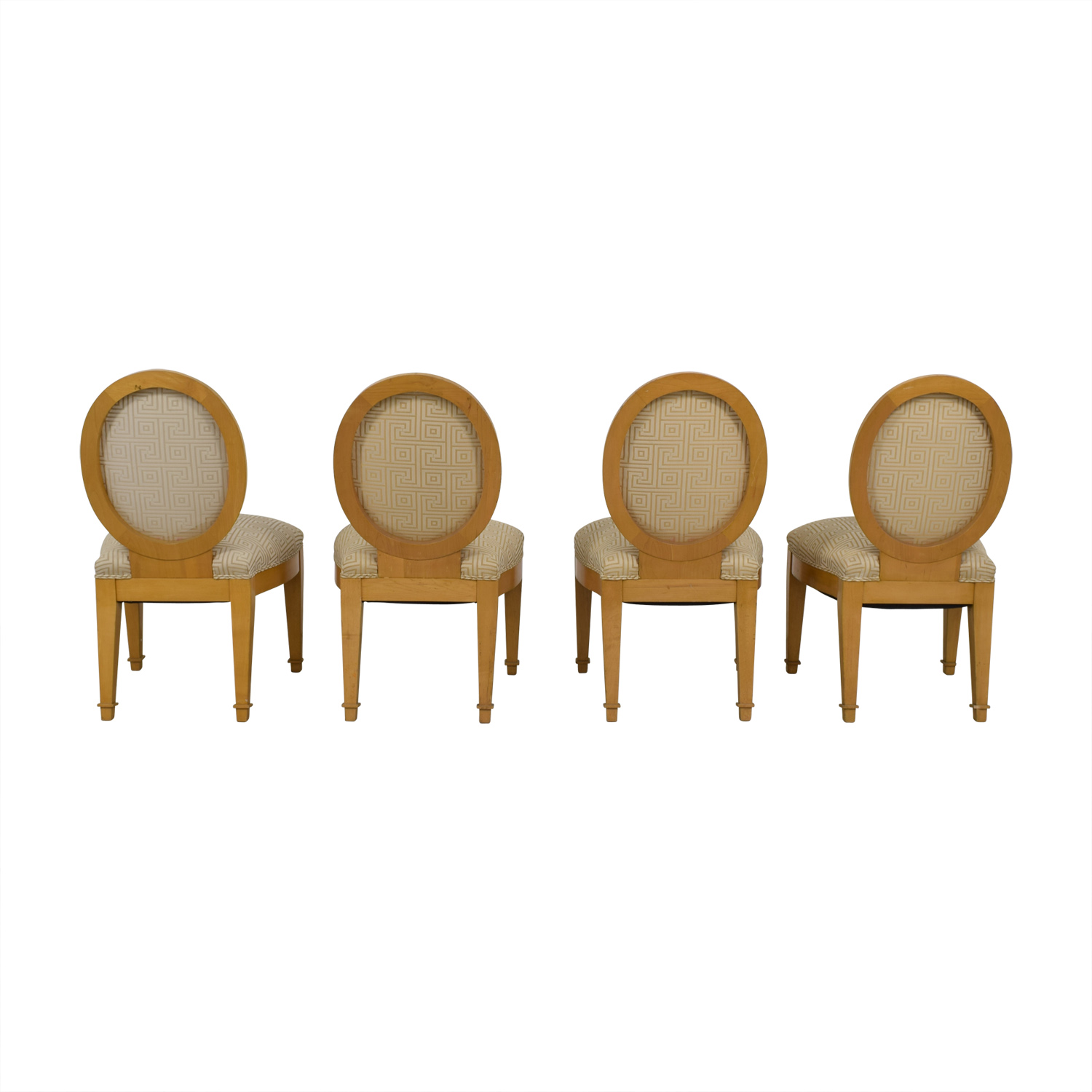 Furniture Masters Furniture Masters Tan and Beige Upholstered Dining Chairs second hand