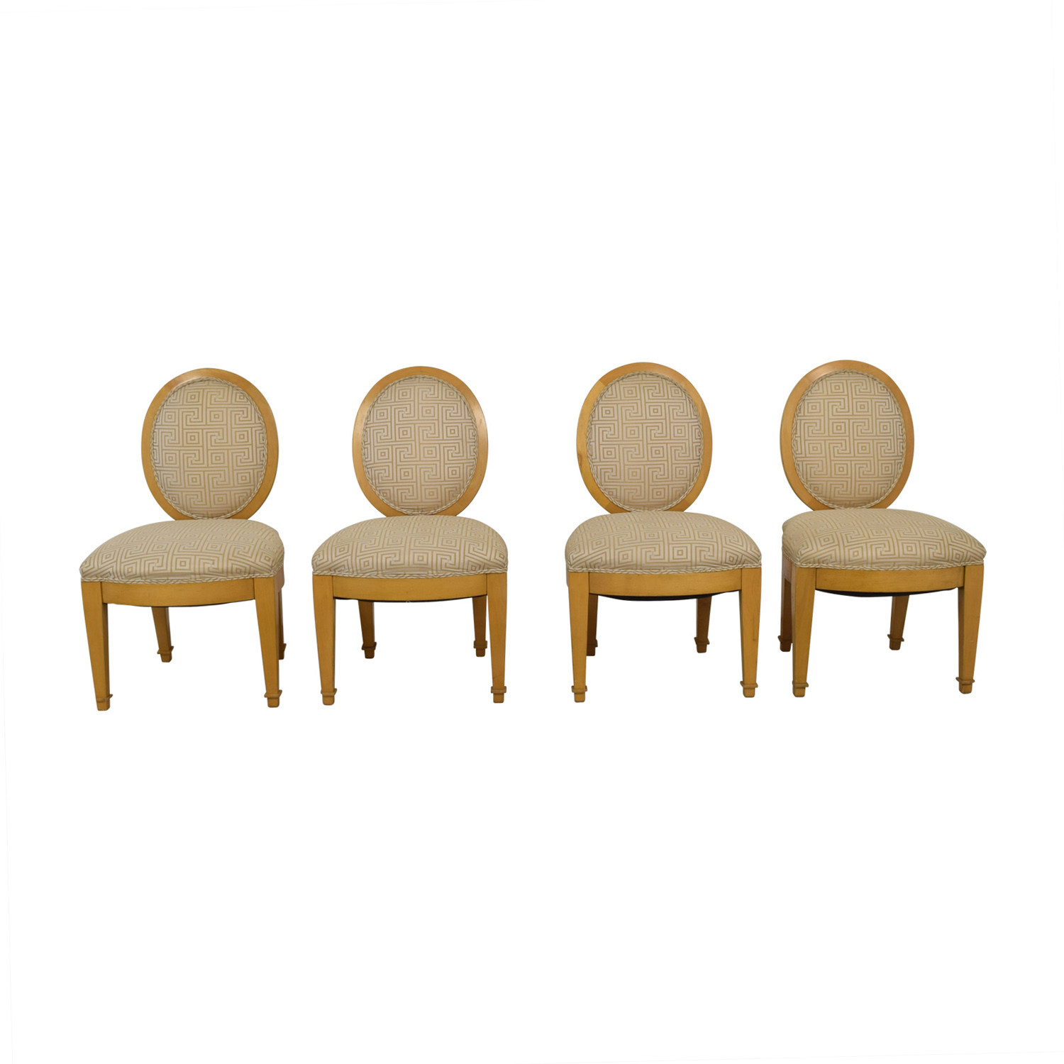 Furniture Masters Furniture Masters Tan and Beige Upholstered Dining Chairs nj