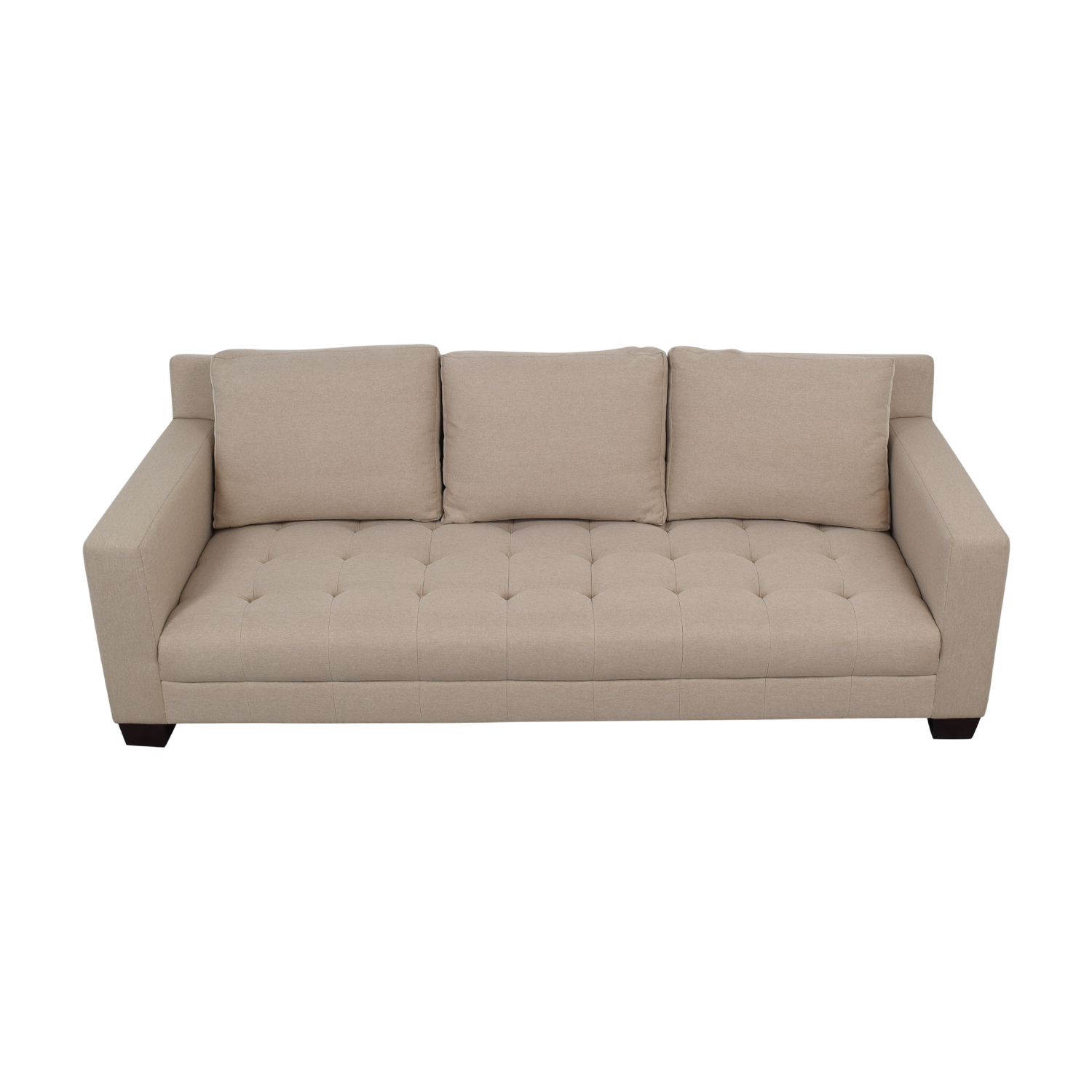 Furniture Masters Gray Tufted Single Cushion Sofa / Classic Sofas