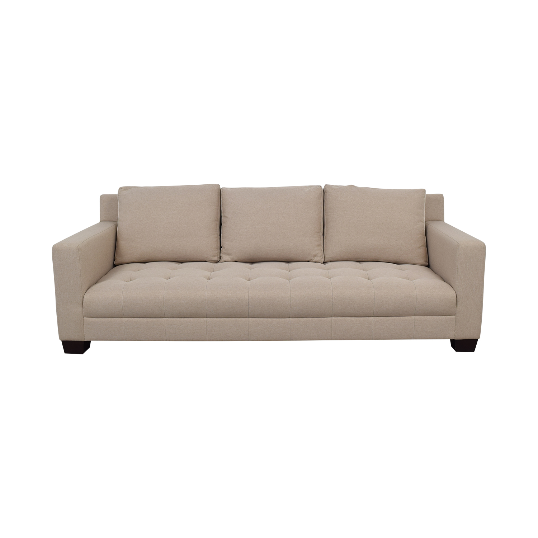 Furniture Masters Furniture Masters Gray Tufted Single Cushion Sofa for sale