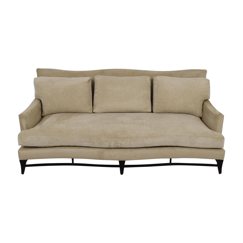 Furniture Masters Beige Single Cushion Sofa sale