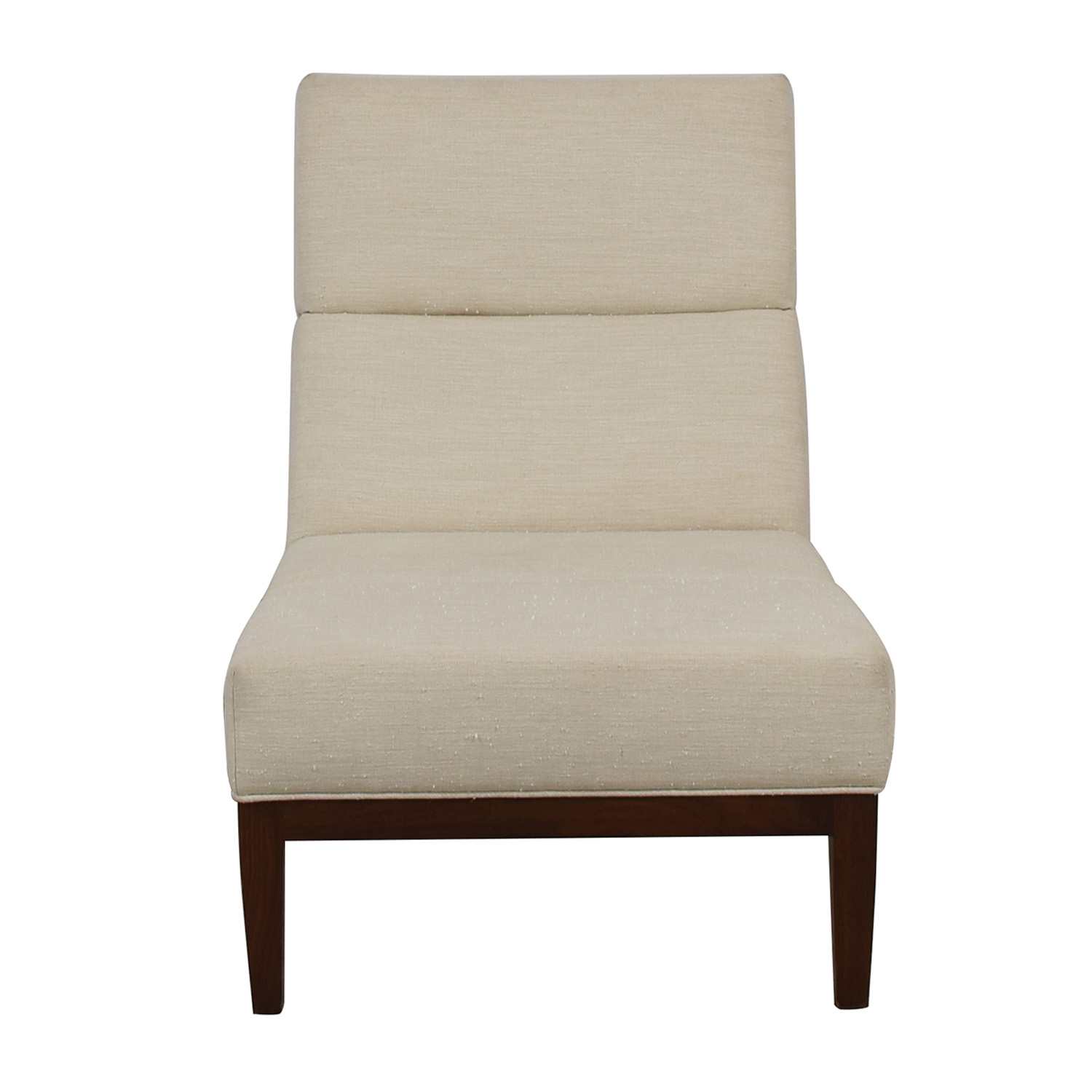 Furniture Masters Furniture Masters White Linen Accent Chair discount
