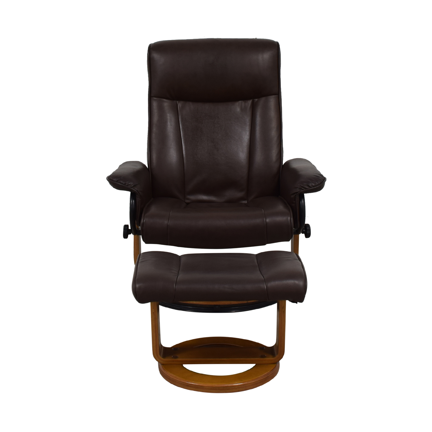 shop Brown Leather Recliner and Ottoman