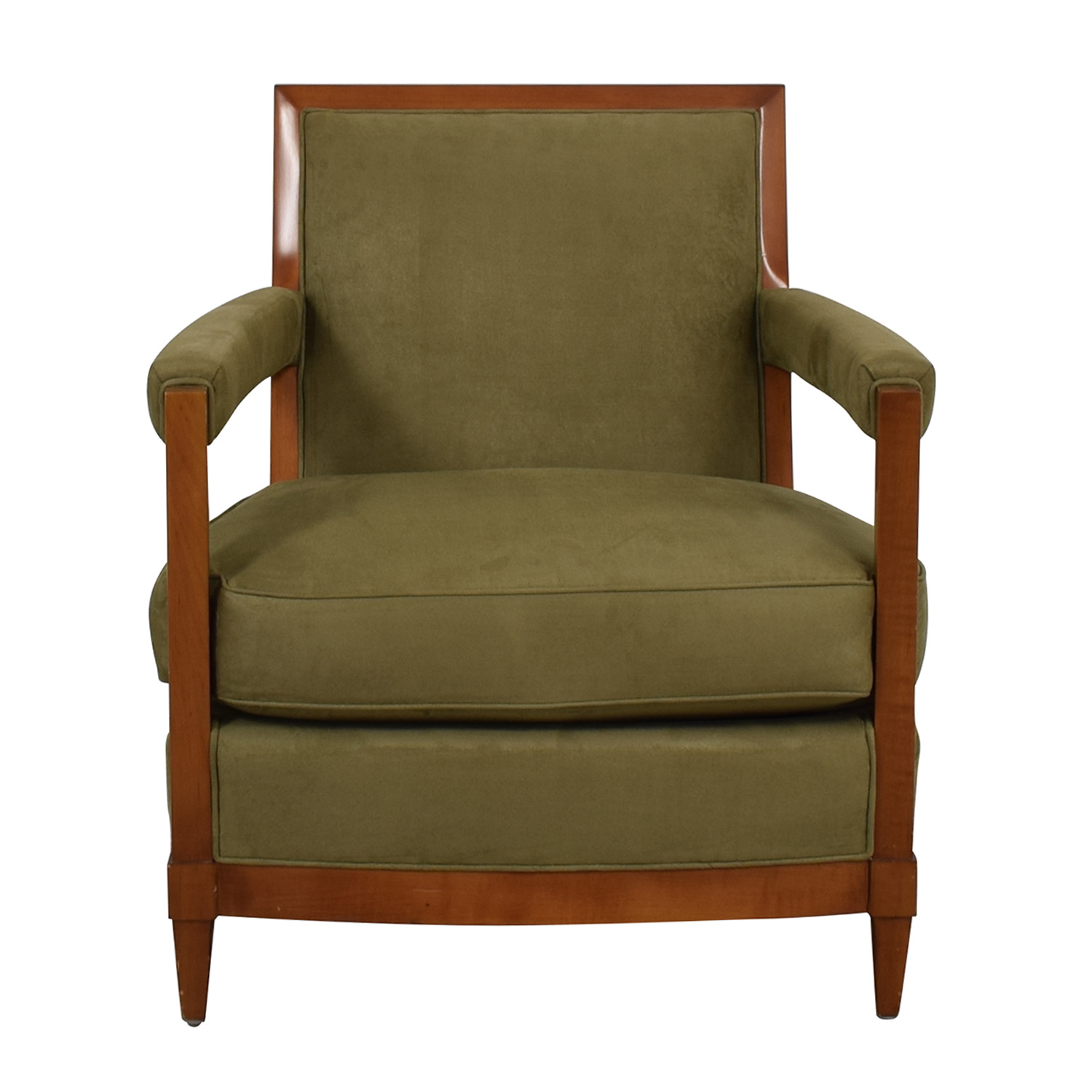 Furniture Masters Furniture Masters Sage Green Micro-Suede Accent Chair for sale