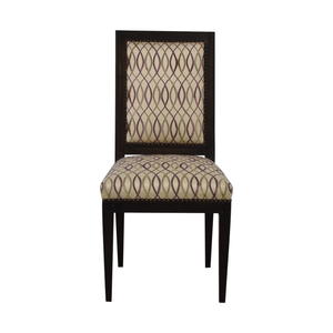 Furniture Masters Furniture Masters Beige and Lavender Accent Chair nyc