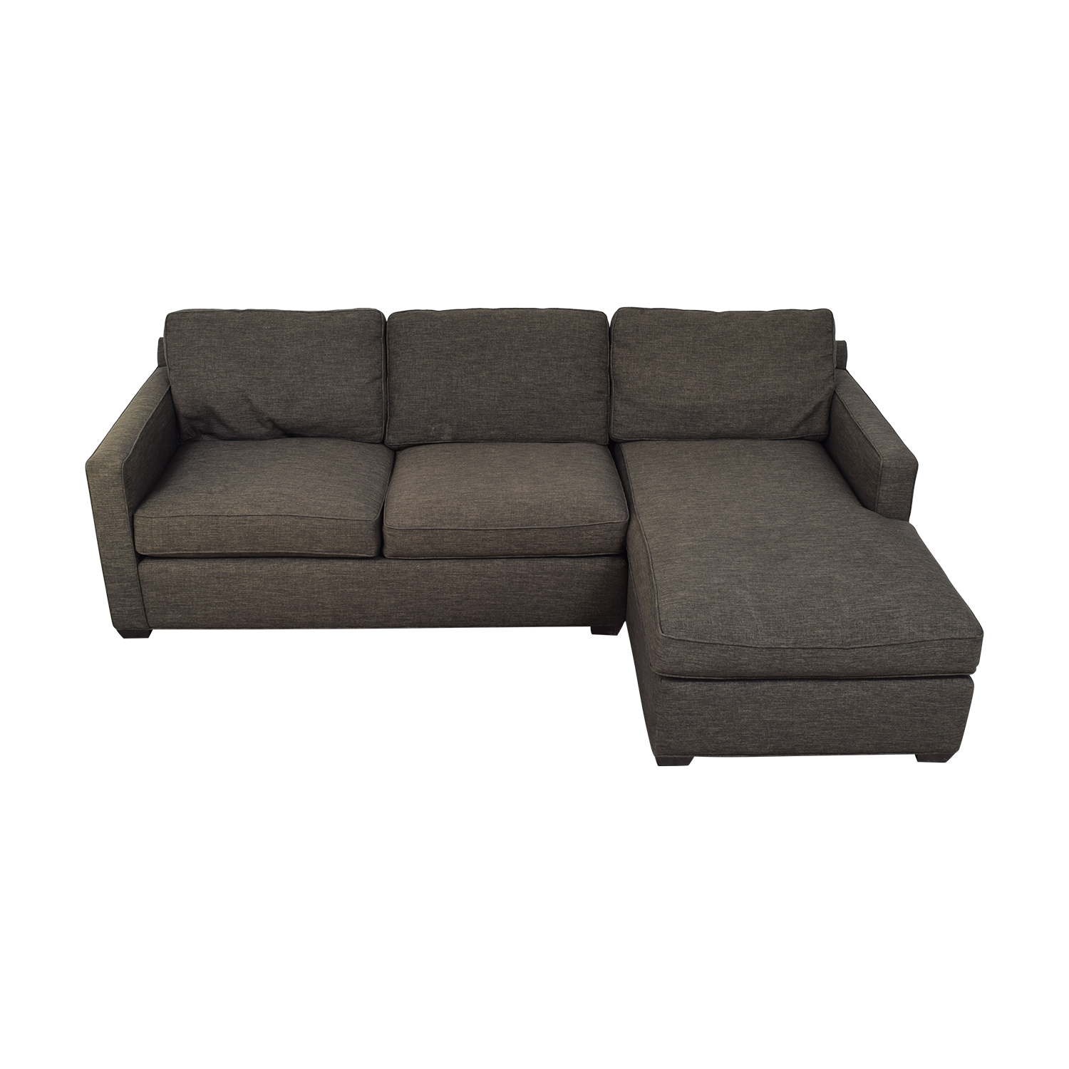 Crate & Barrel Crate & Barrel Grey Chaise Sectional dimensions