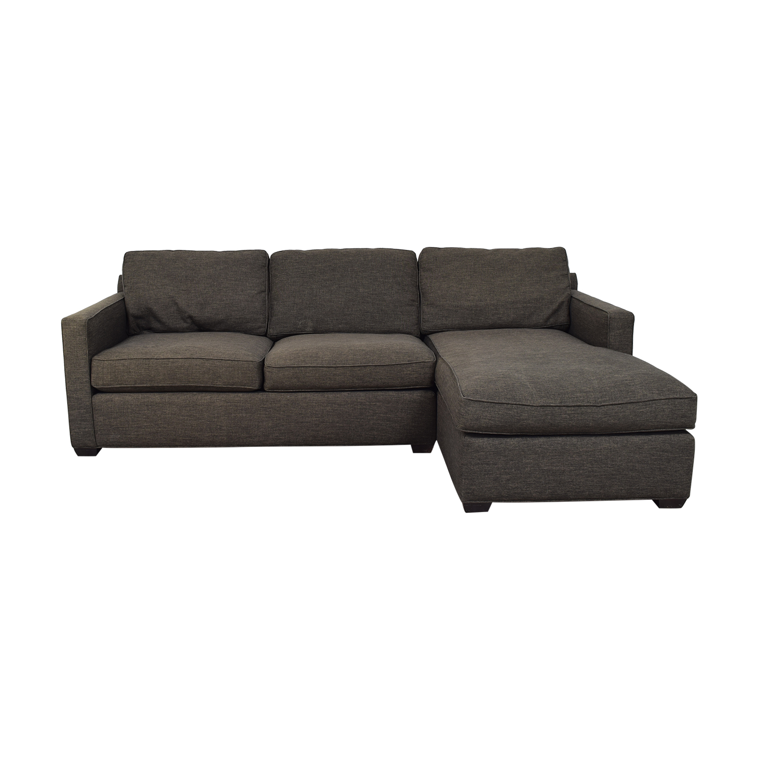 Crate & Barrel Crate & Barrel Grey Chaise Sectional Sofas