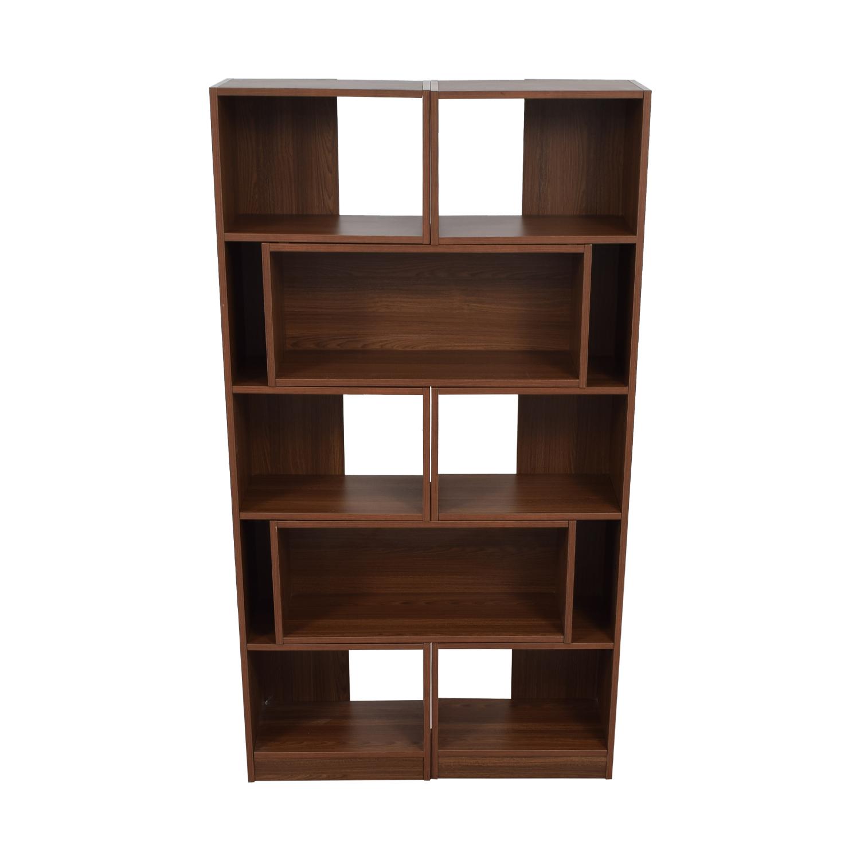 shop Crate & Barrel Puzzle Bookshelf Crate & Barrel