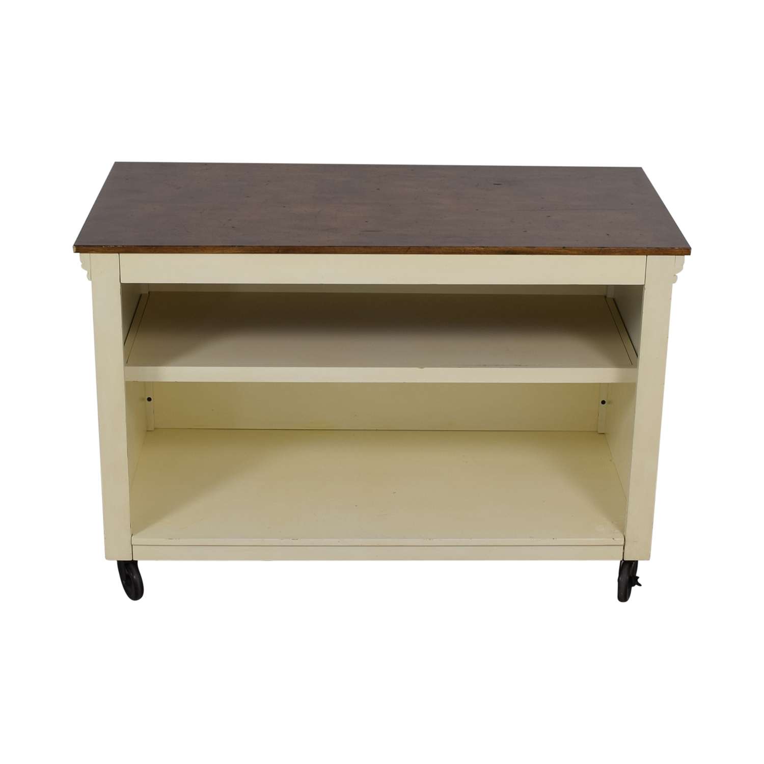 buy Pottery Barn Wood Top White Buffet Pottery Barn