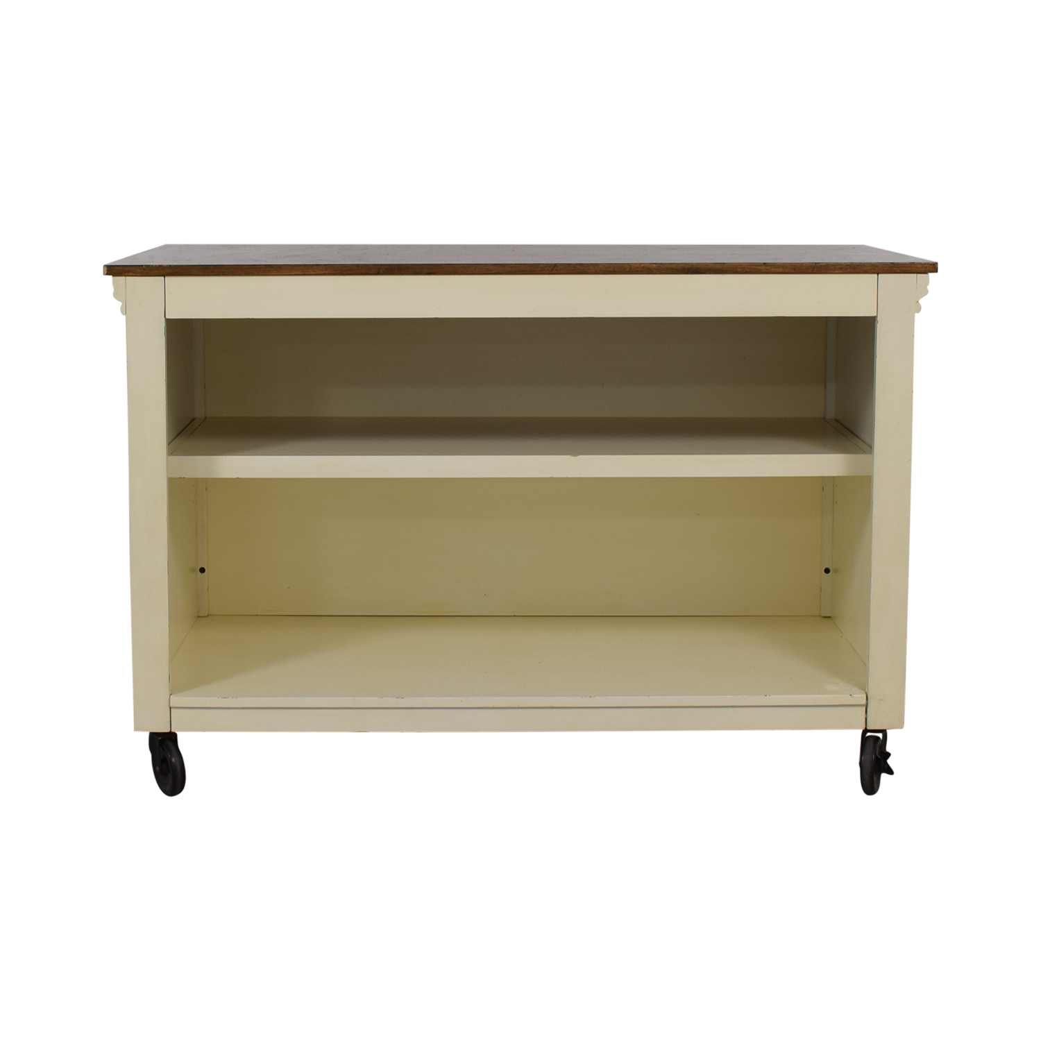 Pottery Barn Pottery Barn Wood Top White Buffet for sale