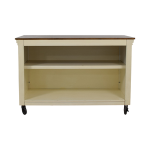 Pottery Barn Wood Top White Buffet / Tables
