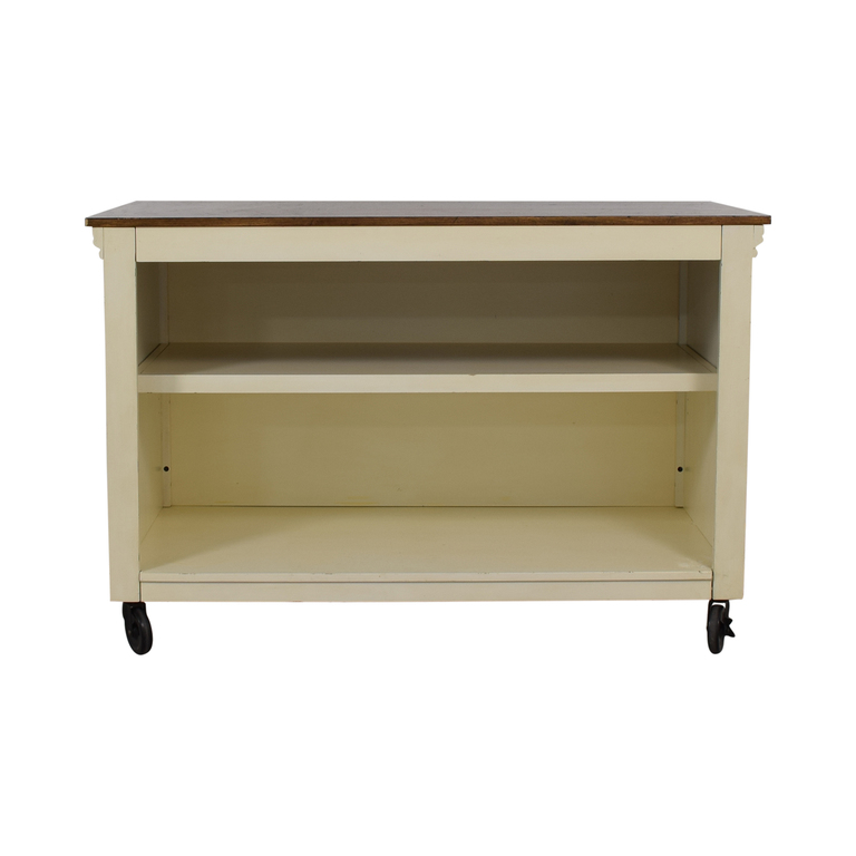 Pottery Barn Pottery Barn Wood Top White Buffet price