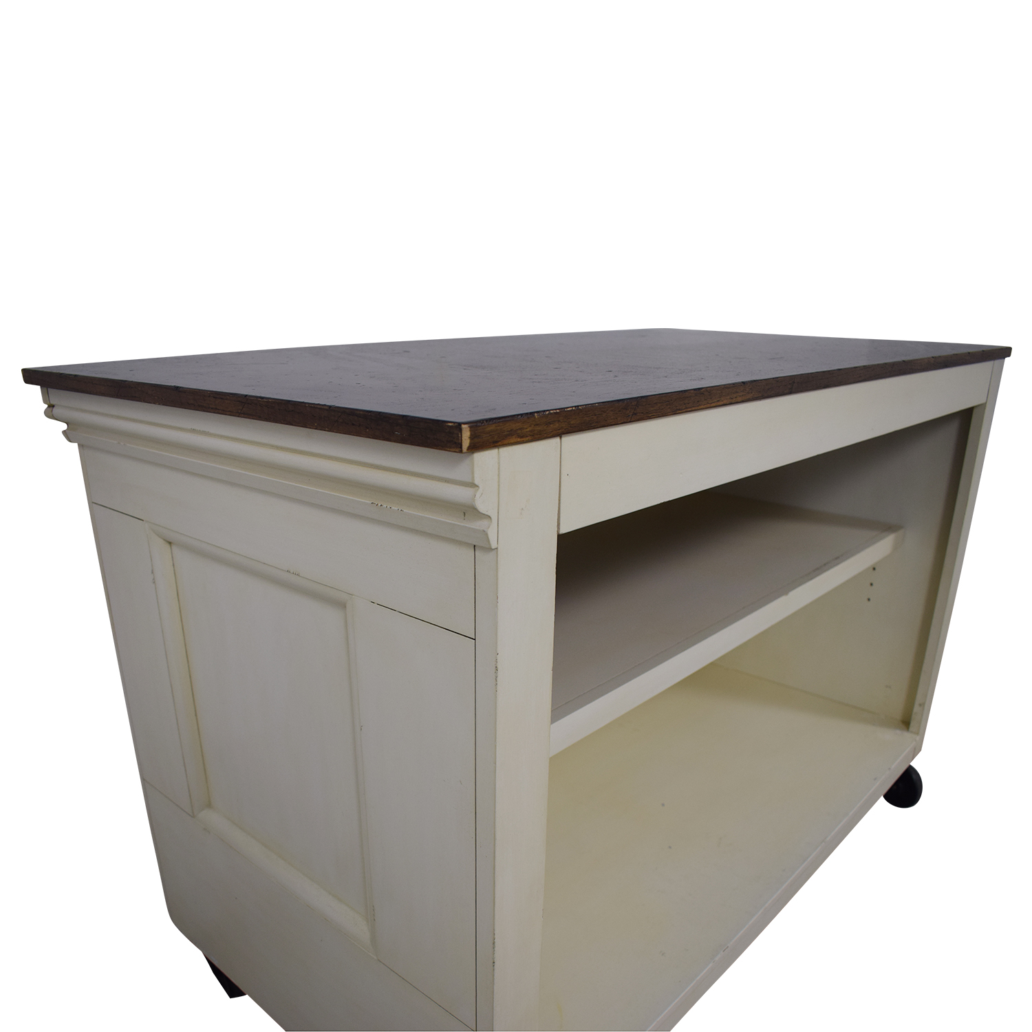 Pottery Barn Wood Top White Buffet sale