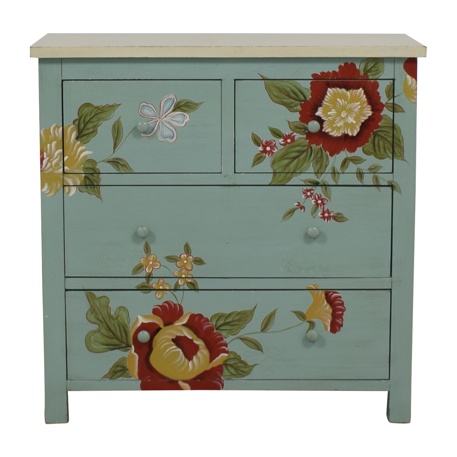 Sterling Industries Sterling Industries Custom Four Drawer Painted Wood Dresser second hand