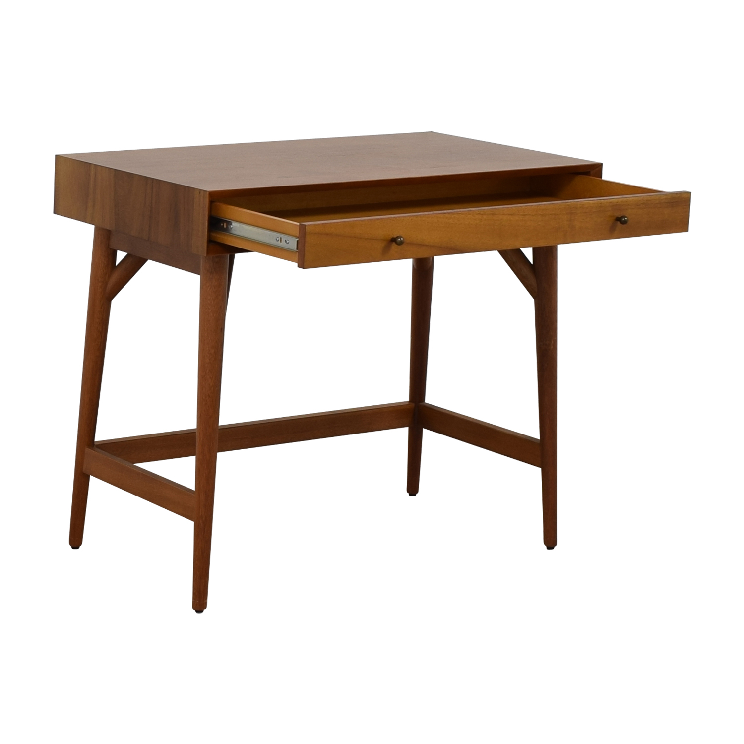 West Elm Mid Century Acorn Single Drawer Desk Home Office Desks