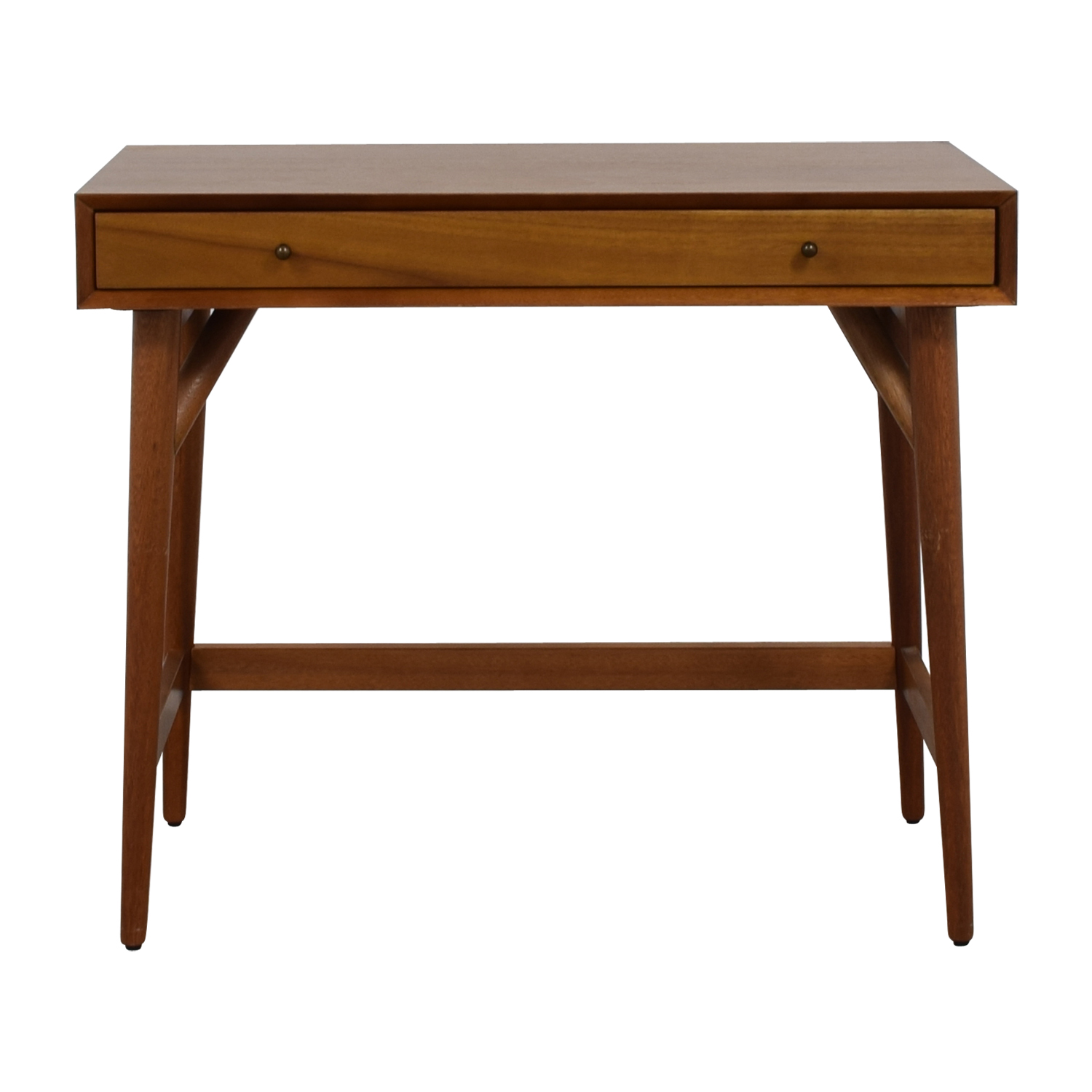 shop West Elm Mid Century Acorn Single Drawer Desk West Elm Home Office Desks
