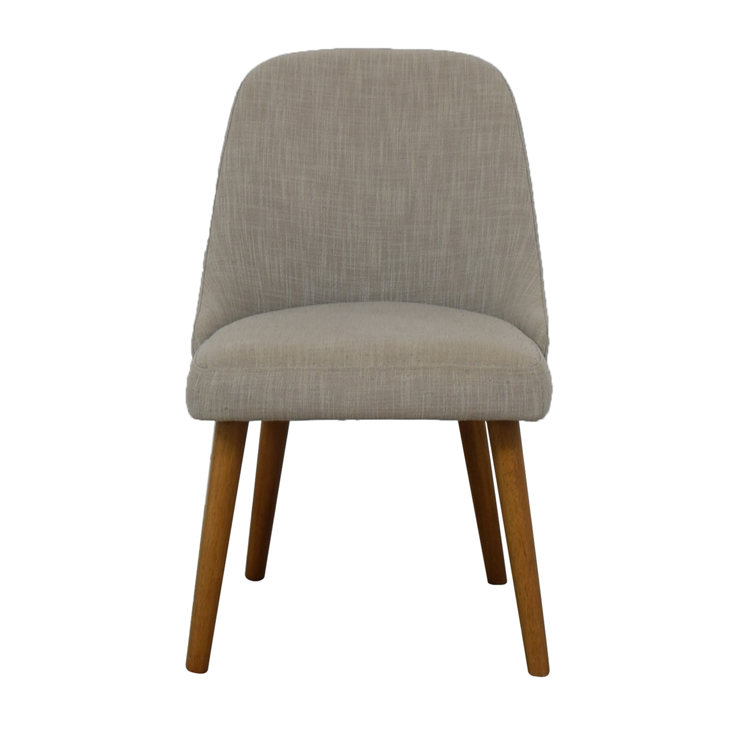 West Elm West Elm Upholstered Grey Tweed Dining Chair coupon