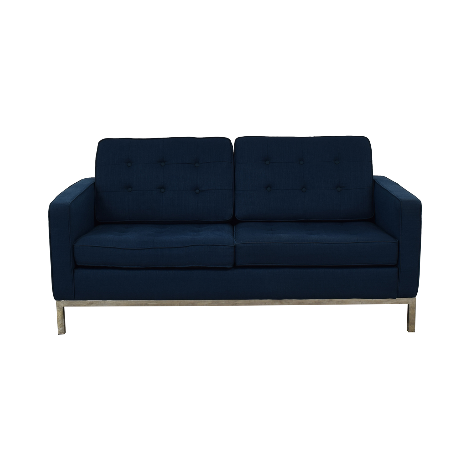 Modway Modway Loft Blue Tufted Two-Cushion Loveseat discount