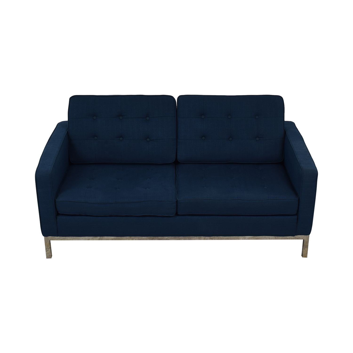 Modway Modway Loft Blue Tufted Two-Cushion Loveseat nj