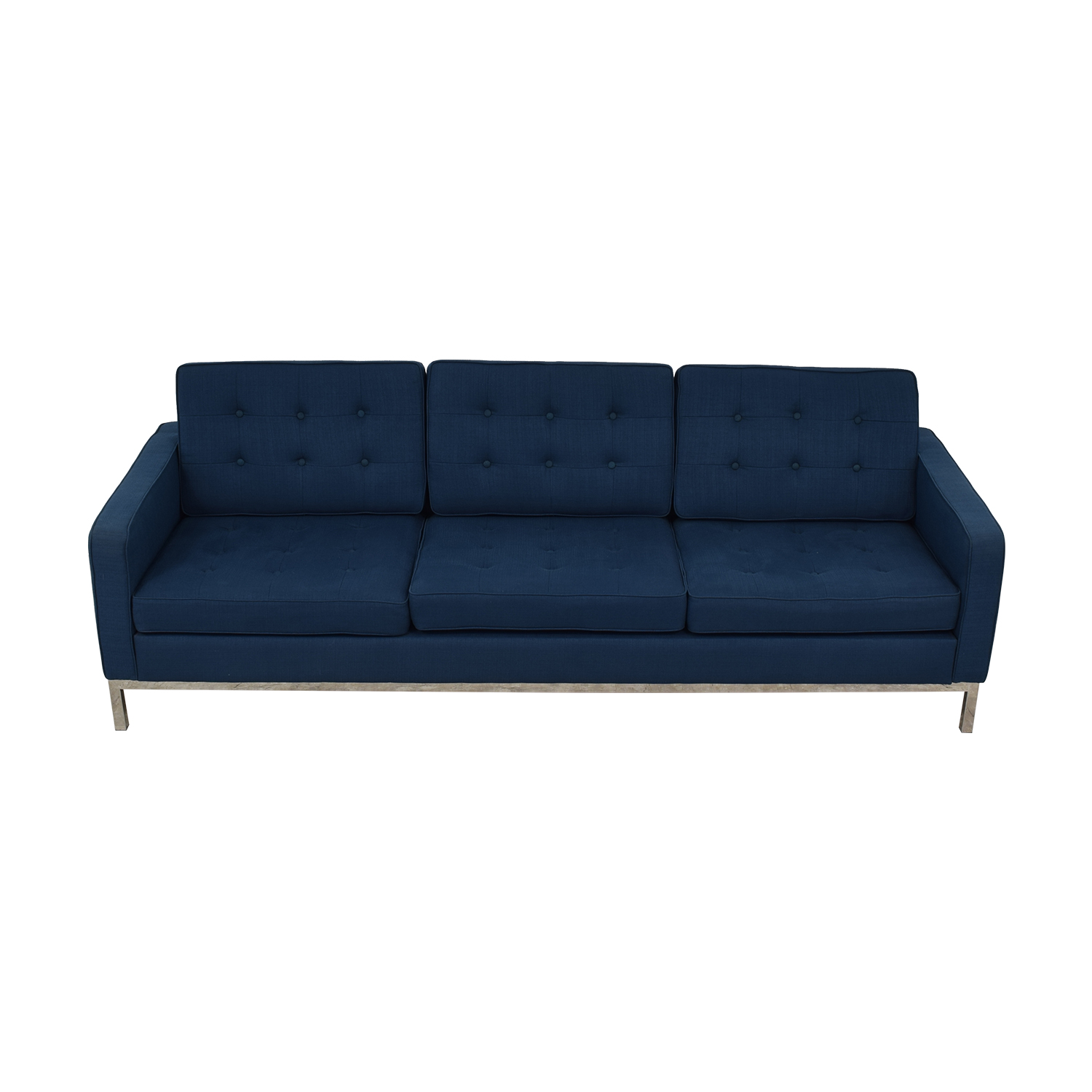 Modway Modway Loft Blue Tufted Three-Cushion Sofa coupon