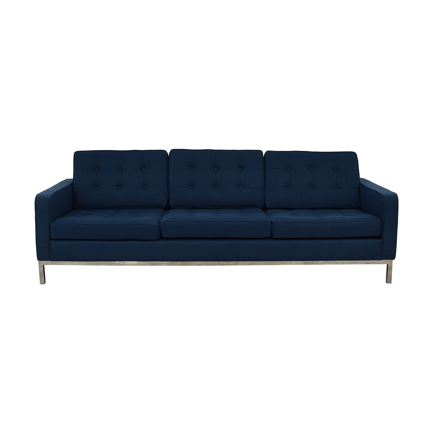 Modway Modway Loft Blue Tufted Three-Cushion Sofa dimensions
