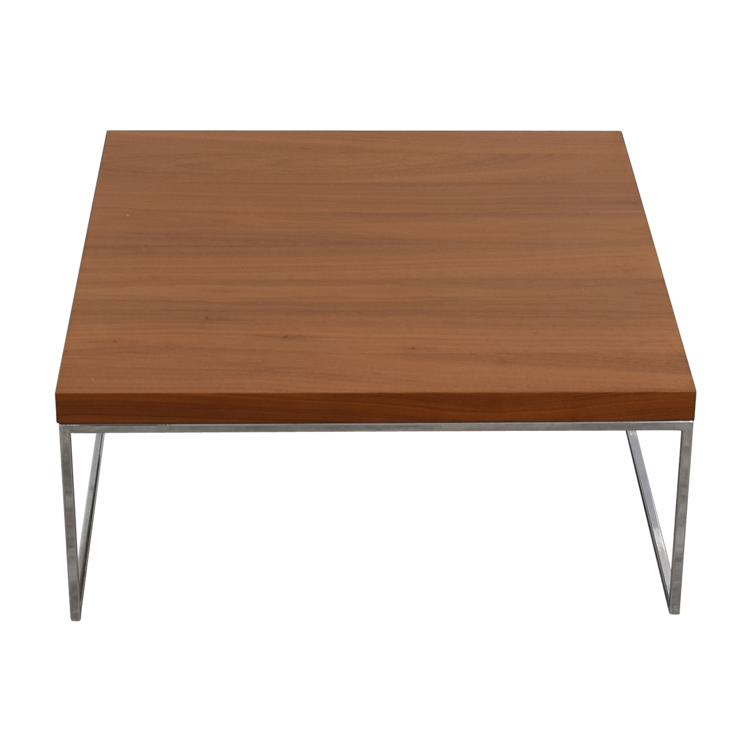 BoConcept BoConcept Lugo Wood and Chrome Coffee Table dimensions