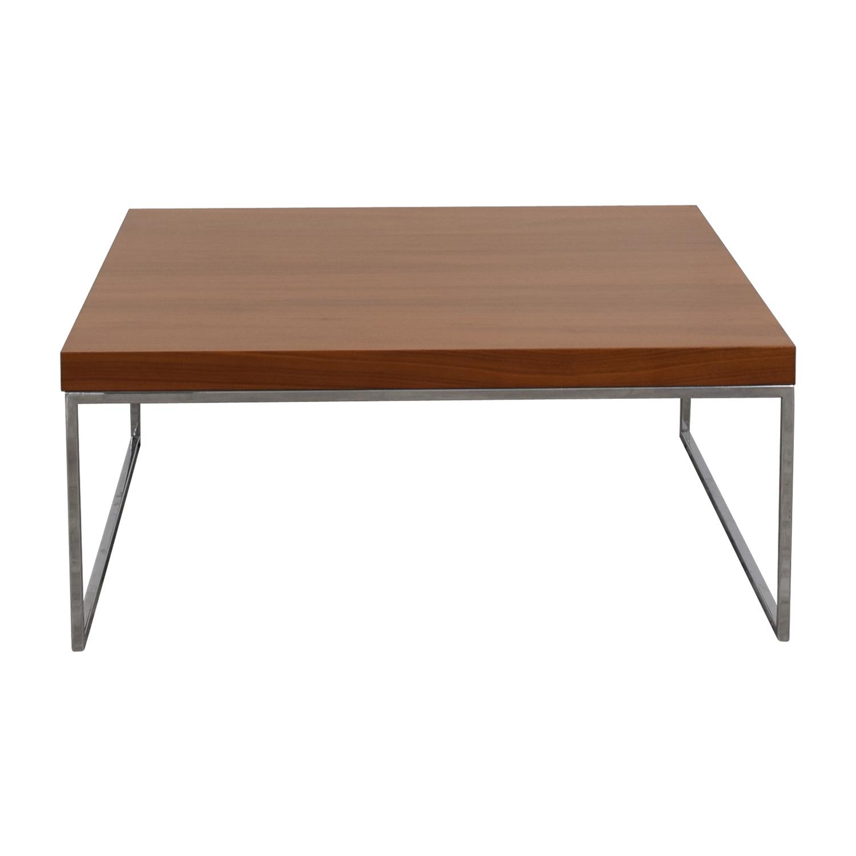 shop BoConcept Lugo Wood and Chrome Coffee Table BoConcept Sofas