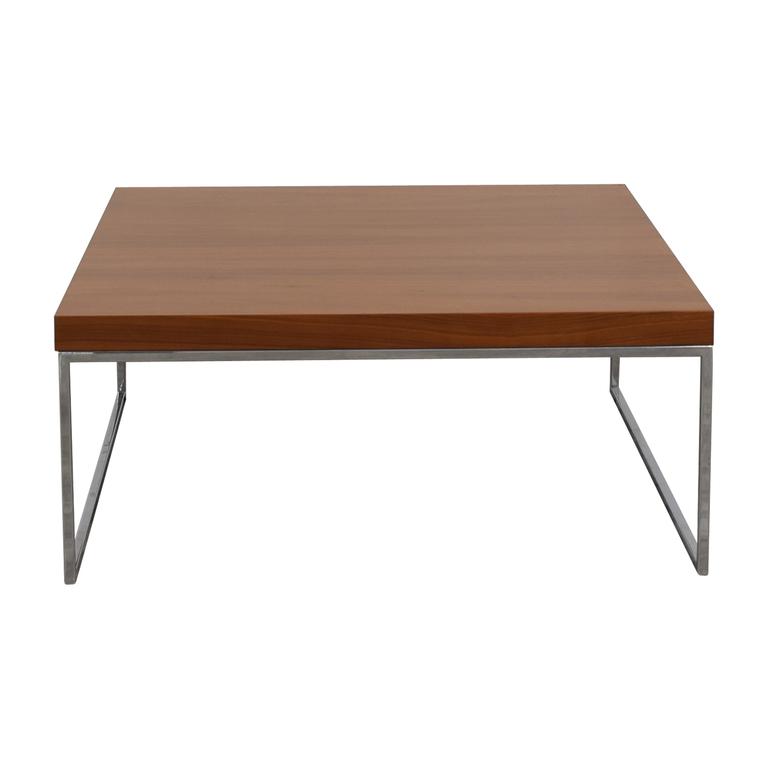 BoConcept BoConcept Lugo Wood and Chrome Coffee Table for sale