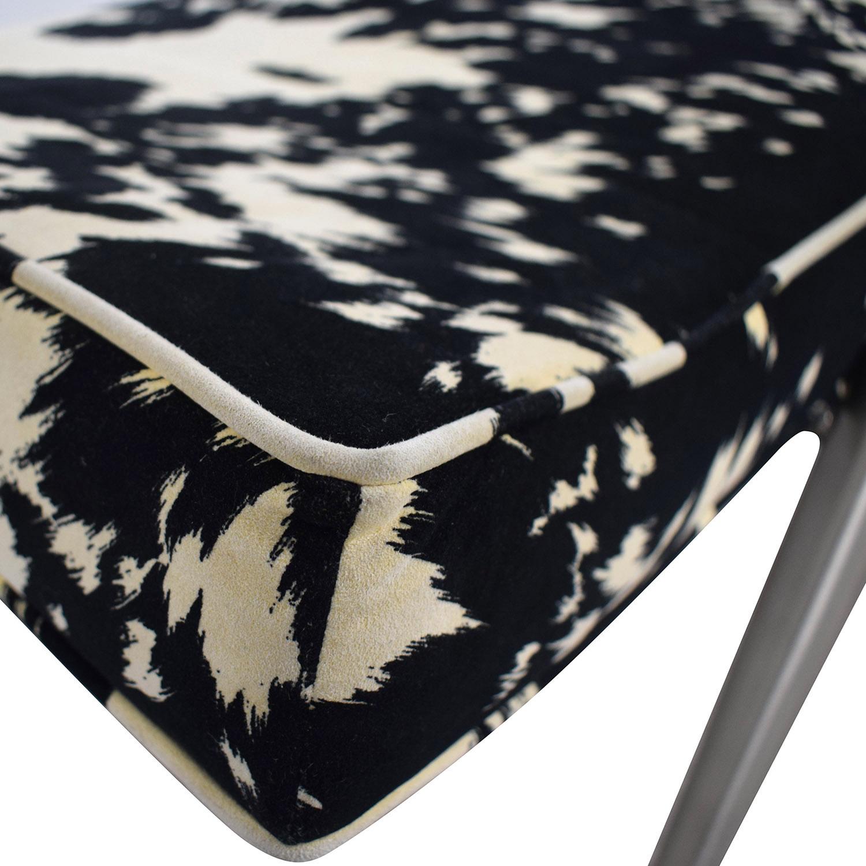 buy Black and White Upholstered Bench