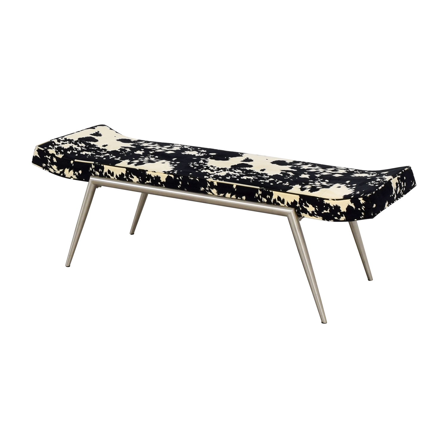 shop Black and White Upholstered Bench